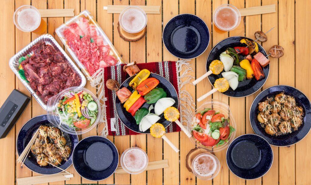 飲食を提供するバーベキュー食材画像