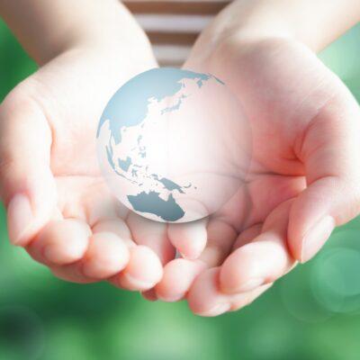 地球の環境保全をイメージ